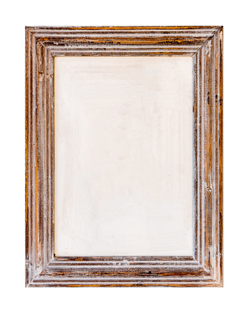 Wooden Frame. Rustic wood frame on the white background