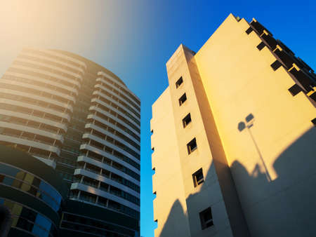 modern office building: Modern office building at sunset time. Stock Photo