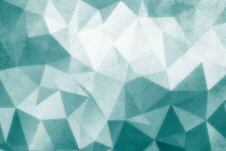turquise: Grunge turquise polygonal vintage old background. Stock Photo