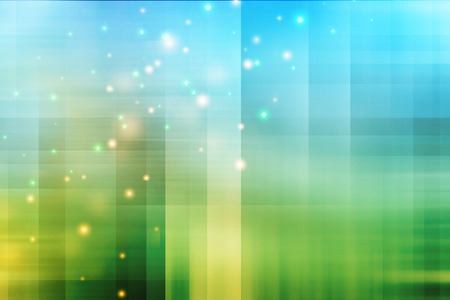 Abstract blue and green background with glitter. Technology backdrop.