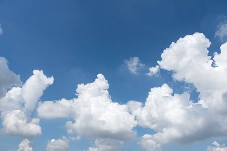 Dancing cloud, white cloud in blue sky. Natural background.