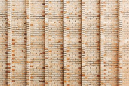 Abstract background from brown brick wall decorated on building.