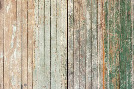 Old wooden wall with grunge and scratched for abstract background. Vintage and retro backdrop. 写真素材