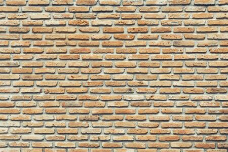 Abstract background from old bricks pattern wall. Retro and vintage backdrop. Banco de Imagens - 132124222