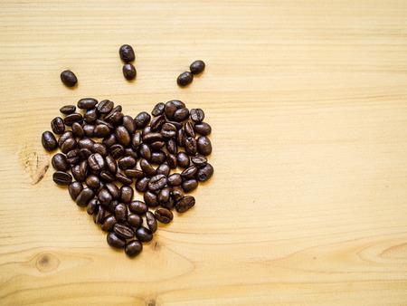 love pic: heart bean of coffee