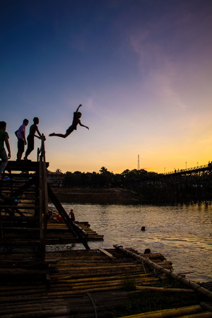 sangkhla buri: Sunset at Sangkhla Buri,Thailand