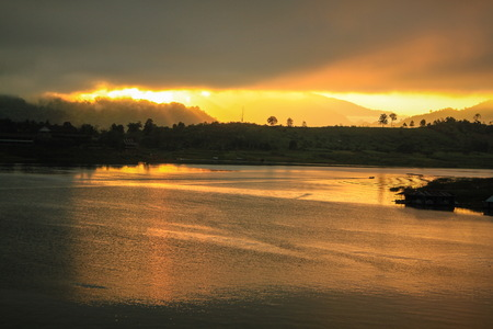sangkhla buri: Sunrise at Sangkhla Buri,Thailand