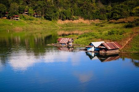 sangkhla buri: Raft at Sangkhla Buri,Thailand