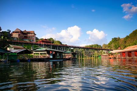 sangkhla buri: Raft at Sangkhla buri, Thailand.