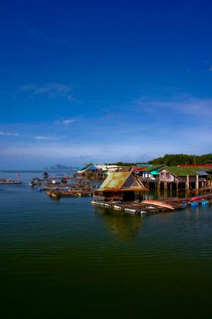 Fishing village in Thailand photo