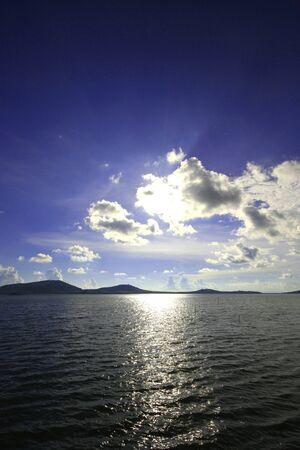 light before the sun will fall in phuket photo