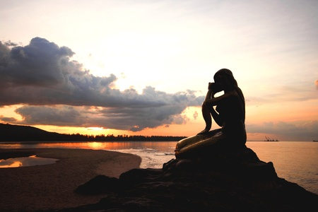 alone in the dark: Mermaid deluxe beach Smith, Songkhla, Thailand.