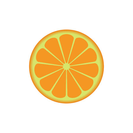 range fruit: orange isolated on white background Illustration