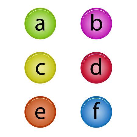 imposing: badge alphabet Illustration