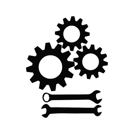 Gear collection and Wrench Vector