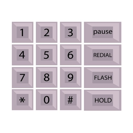 phone number with alphabet kayboard vector illustration