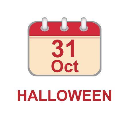 31 th October Halloween Day Vector