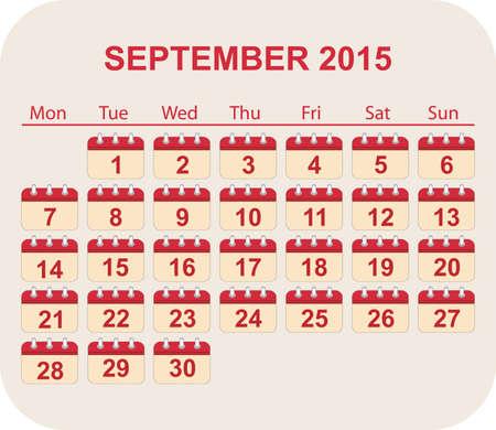 sep: calendar sep 2015