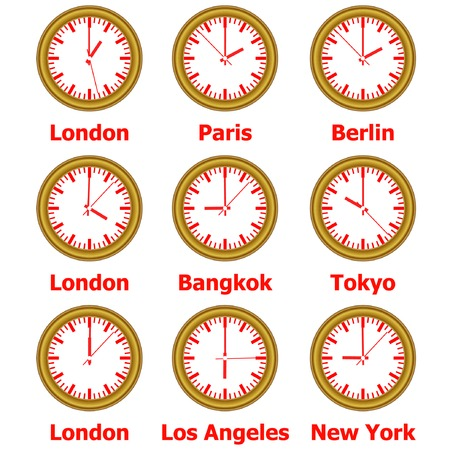 time zone: time zone clock