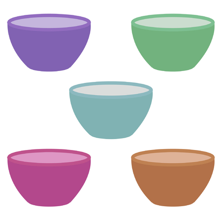bowl set Illustration