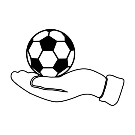 hand with football Vector