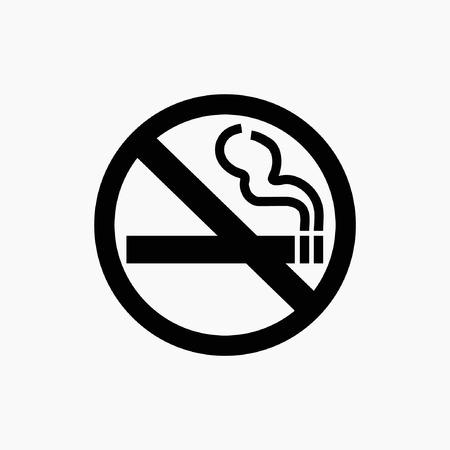 fumando: ningún icono de fumar Vectores
