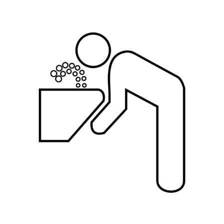 fountain icon Illustration