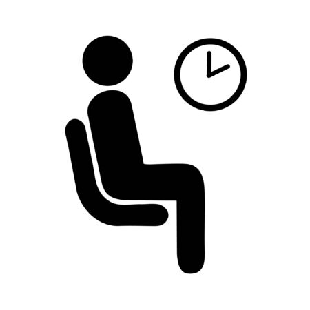 waiting room icon Illustration