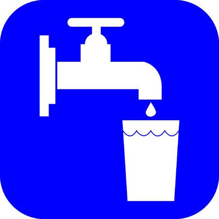 seau d eau: tap_water icône Illustration