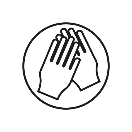 please wash your hands label: wash_hands icon Illustration