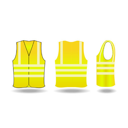 vest in isolated: safety vest