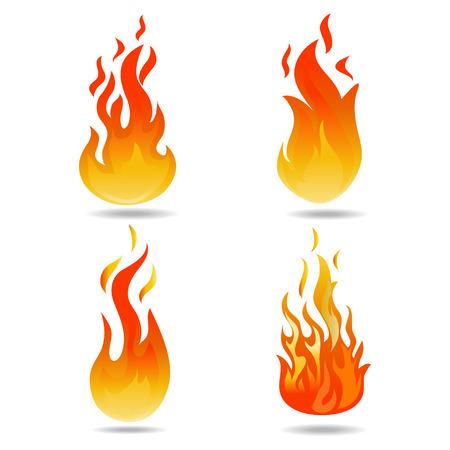 fuoco vettoriale Vettoriali