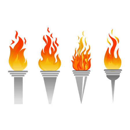 flaming torch vector Vector