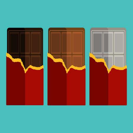 barra de chocolate: Colecci�n de barra de chocolate Vectores