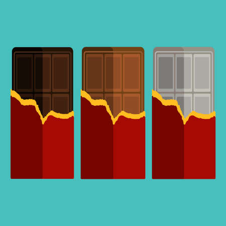 Collection of chocolate bar Vector