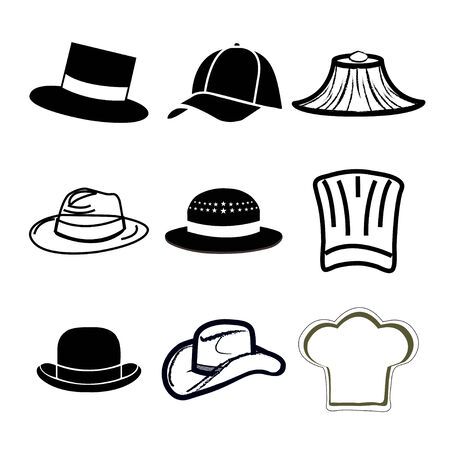 a white police motorcycle: set hat icons