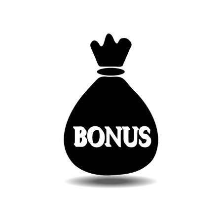 money bag bonus icon Illustration