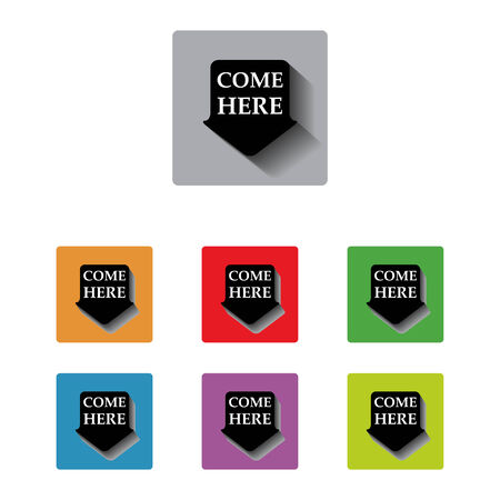 vector come here arrow tag sign icon Vector