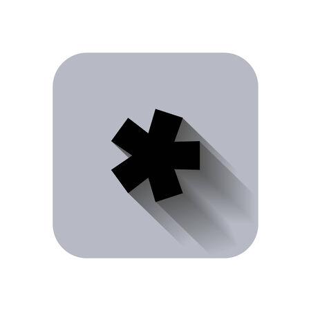 asterisk: asterisk footnote star note information squares Illustration