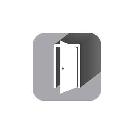 door sign: door sign enter or exit internal door