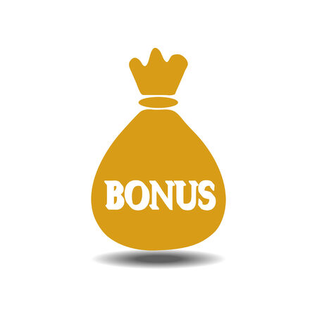 money bag bonus icon  イラスト・ベクター素材