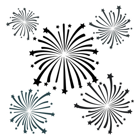 fireworks: black firework vector
