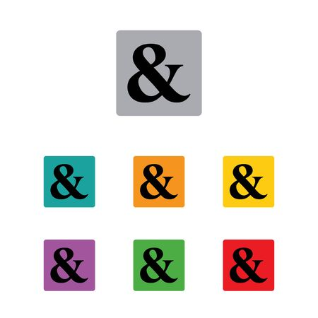 ampersand: ampersand programming logical operator set Illustration