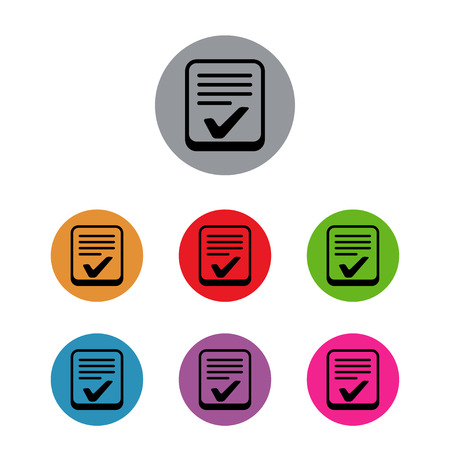 checklist control list survey poll set Illustration