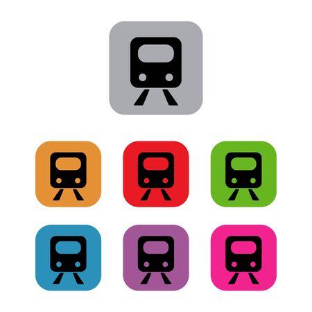 underground: subway train underground set Illustration