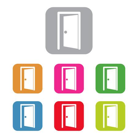 door enter or exit internal door Vector