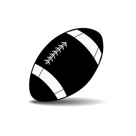 ballon de rugby: balle vecteur de rugby