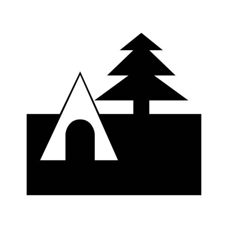 house and pine Vector