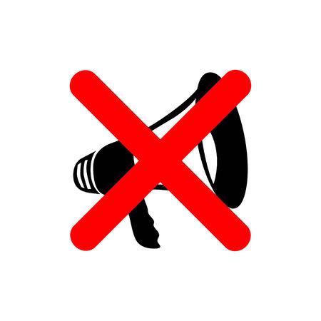 mega phone: no megaphone Illustration