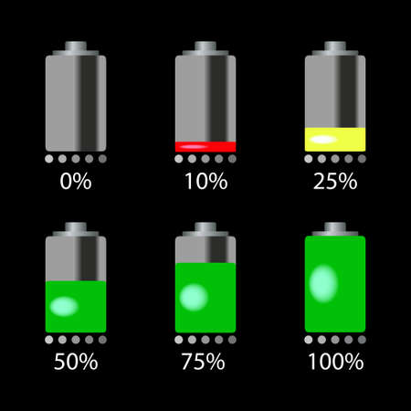 rechargeable: vector battery